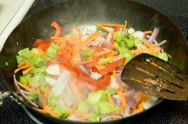 photo of stir-frying