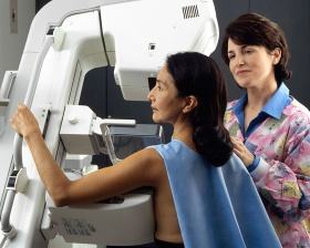 Woman received mammogram (Rhoda Baer)