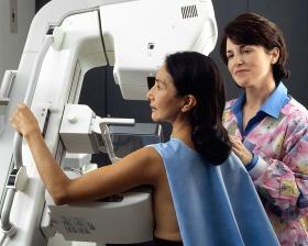 Woman received mammogram (Rhoda Baer)